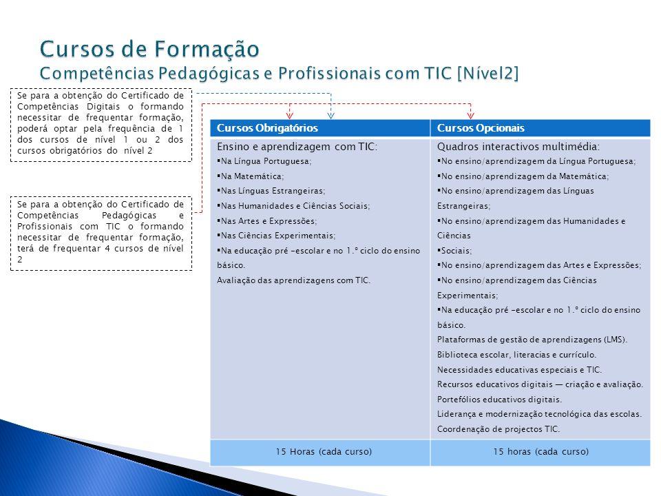 Cursos de Formação Competências Pedagógicas e Profissionais com TIC [Nível2]